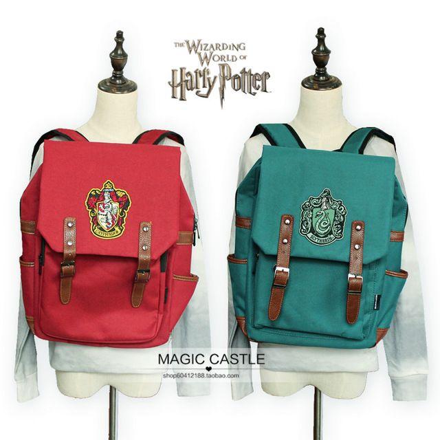 4 цвета Гарри Поттер связанных рюкзак Гриффиндор Слизерин Символ Ремесло Сувенир школьный для девочки мальчик мужчины красный зеленый черный