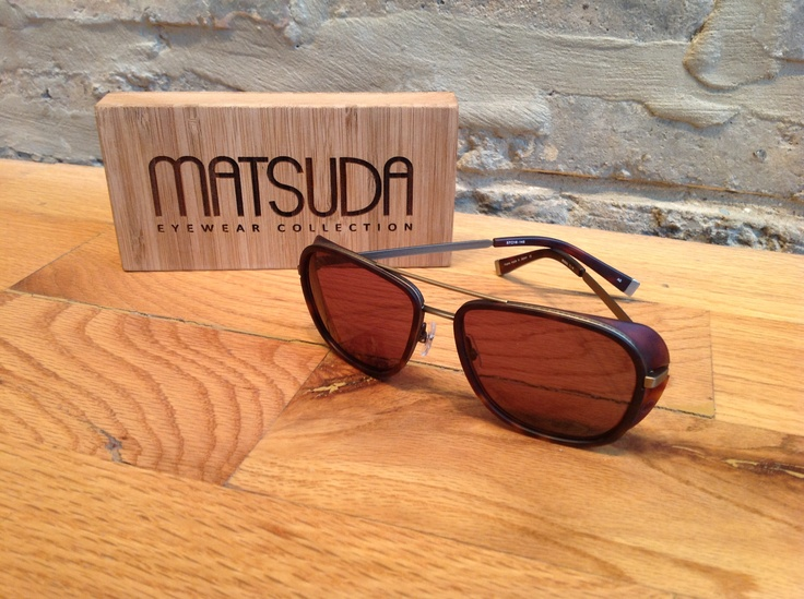 Matsuda sunglass with side-shield. Luxury spectacles. Quality product. Great glasses.