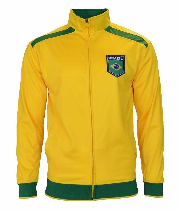 4296e9f2c ... Brasil Jacket Brazil Track Football Club Soccer Gift Mens adults Neymar  Jr 2016 ...