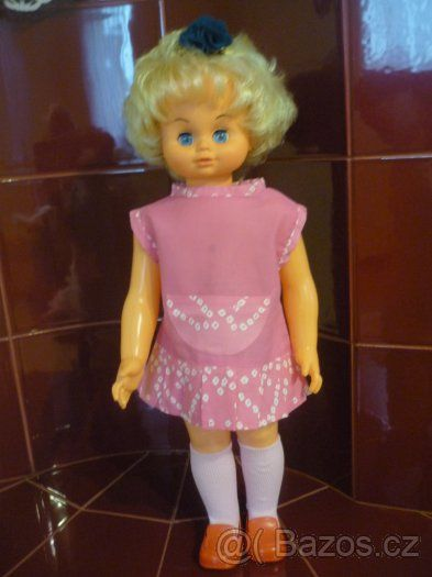 Retro stará panenka HAMIRO, veliká 60cm. - 1