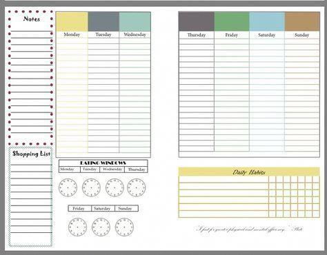 Intermittent fasting fitness planner, free printable RunHoly.com #fitnessplanner