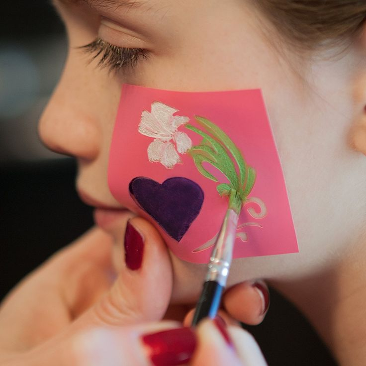 how to make your own stencils for face painting