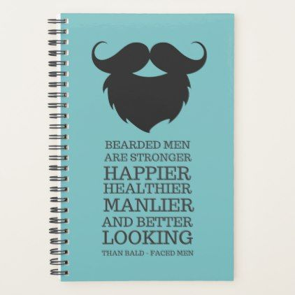 Funny Bearded Men Quote Planner - funny quote quotes memes lol customize cyo