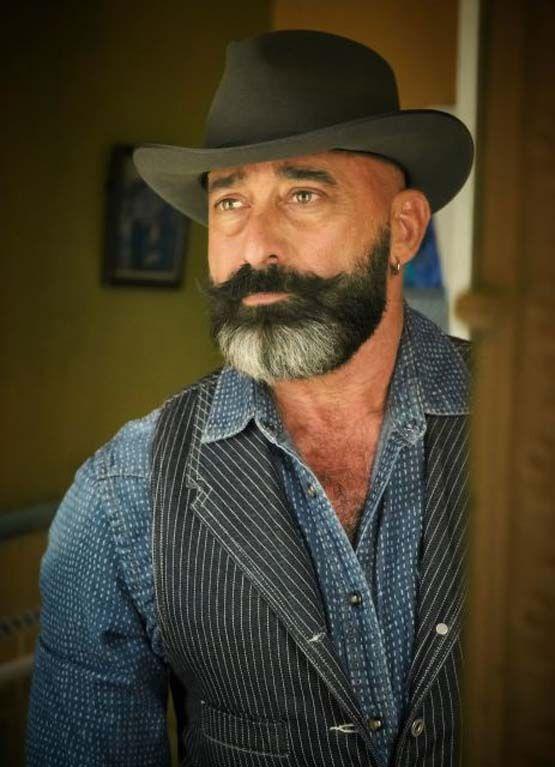 Hair Styles Description: Indigo Vest, Silver Beard...curl In The Mustache .