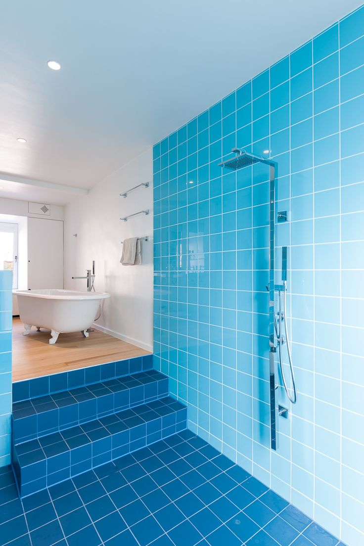 #BluePrivatBathroom with #MosaColors and #Global collection  http://www.mosa.nl/us/products/collection/mosa-colors/
