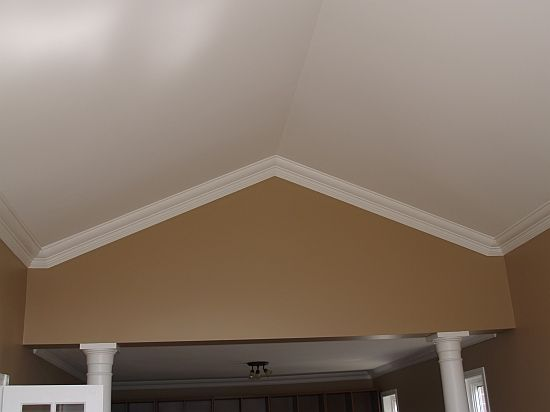 46 best images about crown molding on vaulted ceiling on pinterest grey walls vaulted - Ideal ceiling height for a house what matters ...