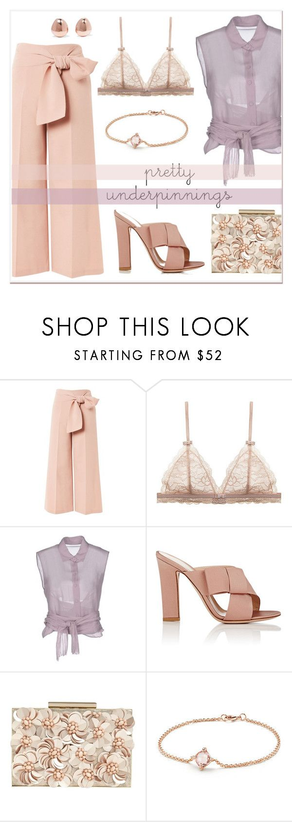 """Pretty Underpinnings"" by elli-argyropoulou ❤ liked on Polyvore featuring Topshop, Alberta Ferretti, Gianvito Rossi, Phase Eight, David Yurman and Monica Vinader"