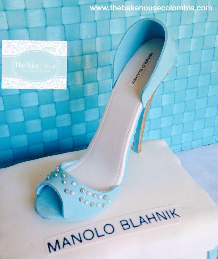 Fondant blue shoe!