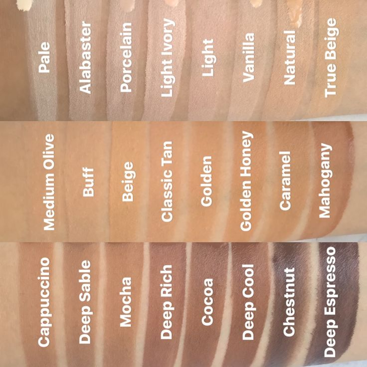 nyx total control drop foundation swatches. Light-natural ...