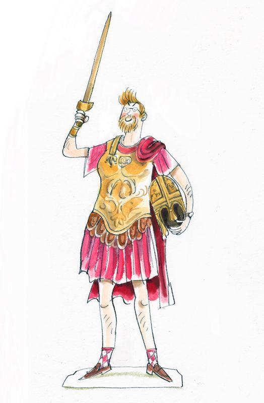 Meester Jaap als Romeinse keizer