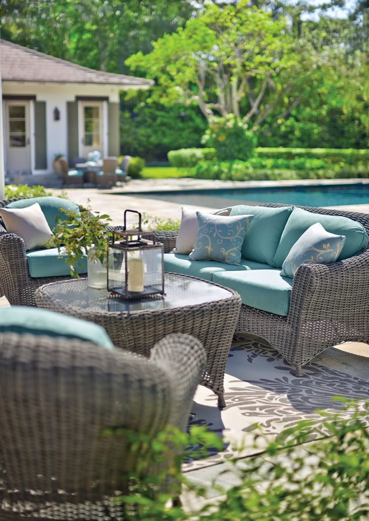 Relax And Unwind In These Exquisite All Weather Wicker Furnishings From  Martha Stewart Living™. Each Piece Is Crafted From Cashmere™ Wicker, ...