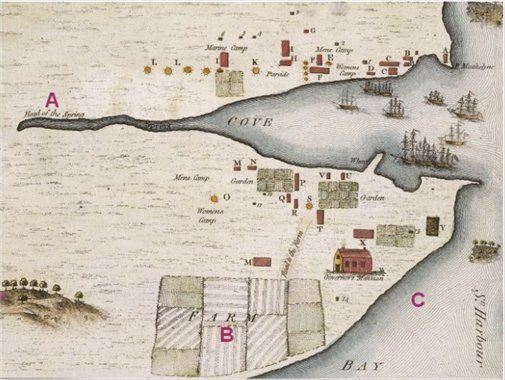 map of sydney cove 1788 - Google Search