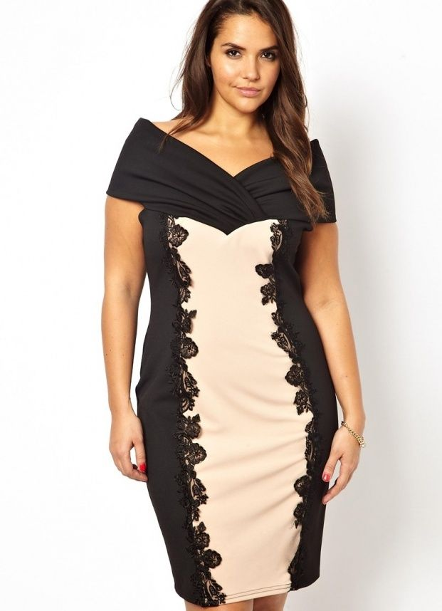 вечерние платья для полных женщин 2014