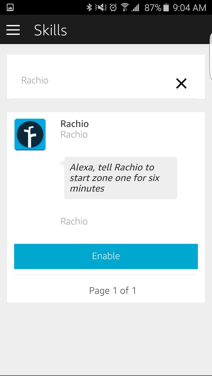 Visit website for a very long list of Alexa commands for the Rachio sprinkler controller.