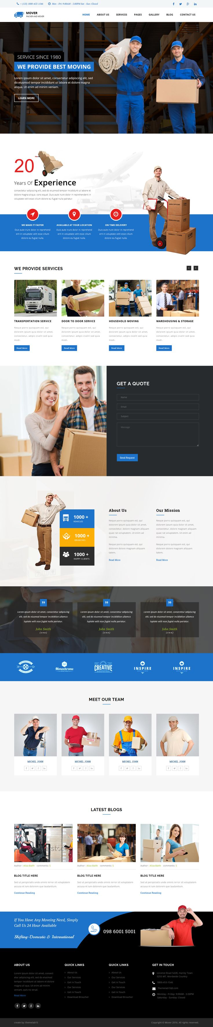 Movers - Company HTML Template. Live Preview & Download: https://themeforest.net/item/movers-company-html-template/16391694?ref=ksioks