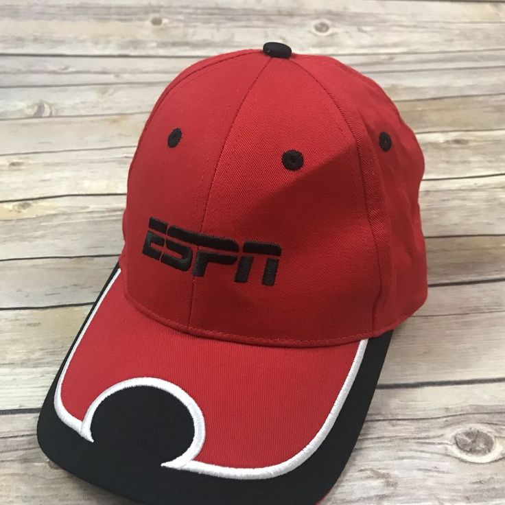 Adult One Size Red ESPN K-Products Red Strapback Cap Hat Sharp! #KProducts