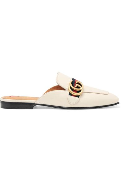 Gucci - Leather Slippers - White