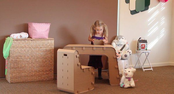 Hack your #old #cardboard #boxes into #fascinating #playing #gear for your children.