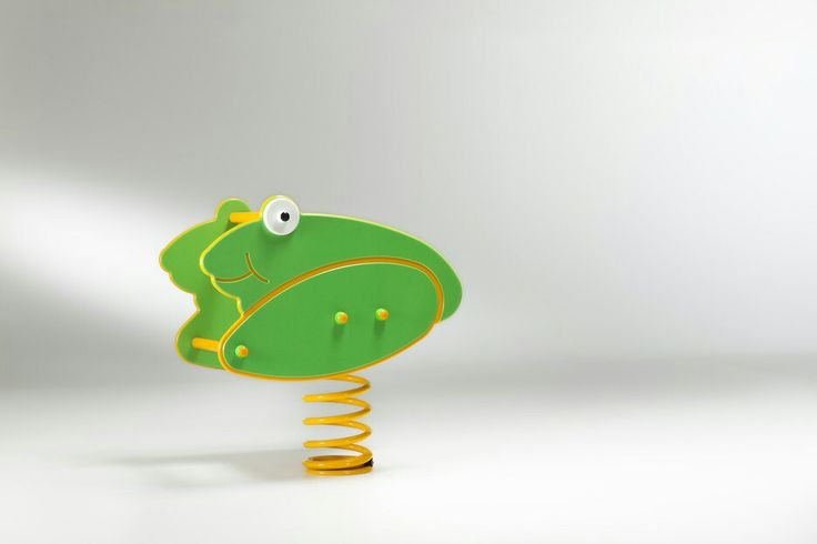 Spring rider gioco a molla spring wings springer playground equipment frog rana