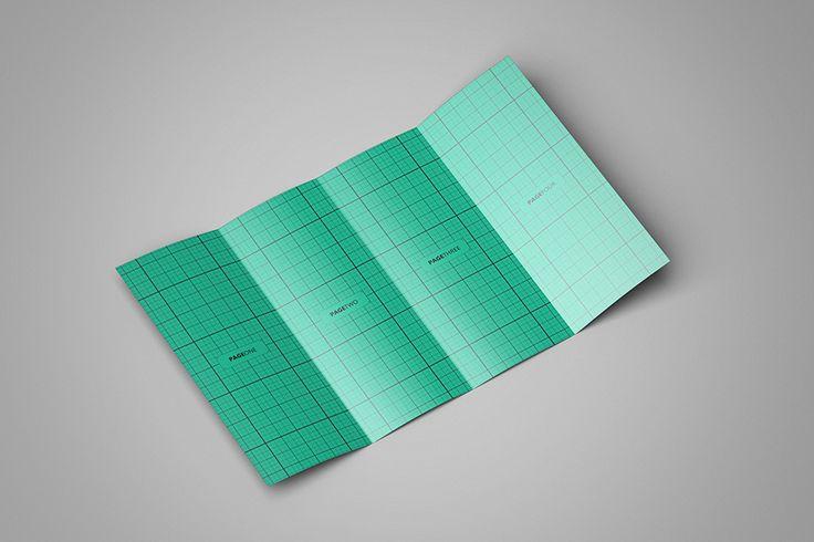 Free Double GateFold Brochure Mockup 105 MB – Gate Fold Brochure Mockup