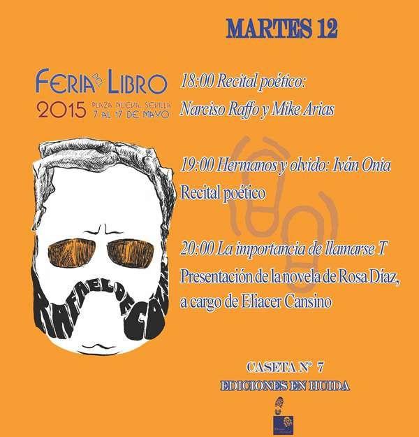 Actividades de Ediciones En Huida en la Feria del Libro de Sevilla de 2015