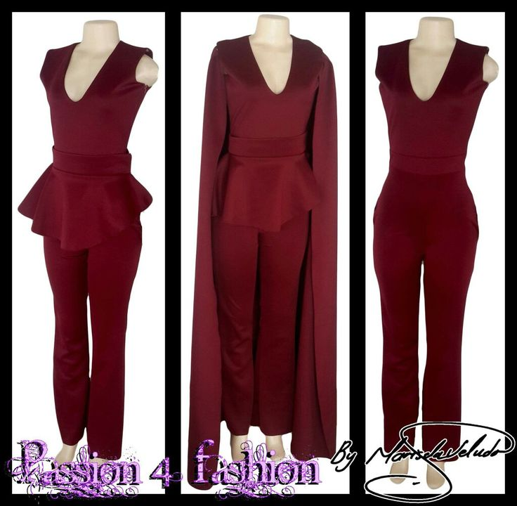 Maroon 3 piece bodysuit. With a V-neckline, detachable peplum belt and a detachable long back shoulder cape. #mariselaveludo #fashion #eveningwear #passion4fashion #bodysuit #maroonbodysuit #cape #peplum