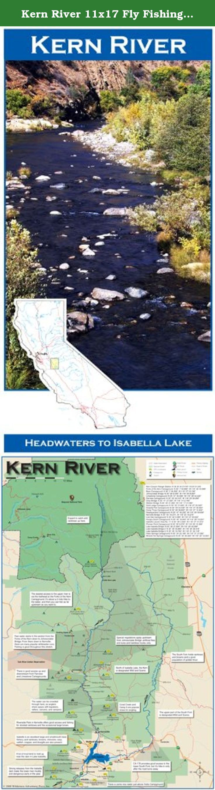 Map of the Kern River from headwaters
