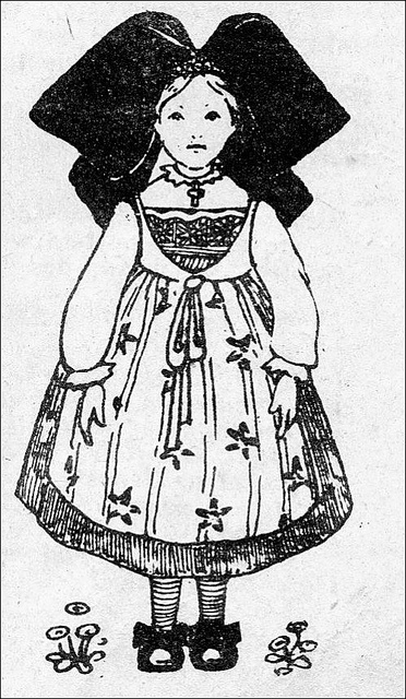 the 1920s-Alsacian girl in traditional costume by april-mo, via Flickr