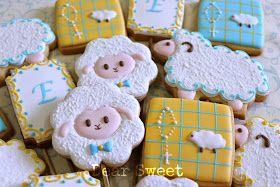 Sheep cookies~ By dear sweet, white, monogram