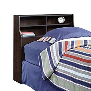 Sauder Beginnings Bookcase Headboard, Twin, Cherry