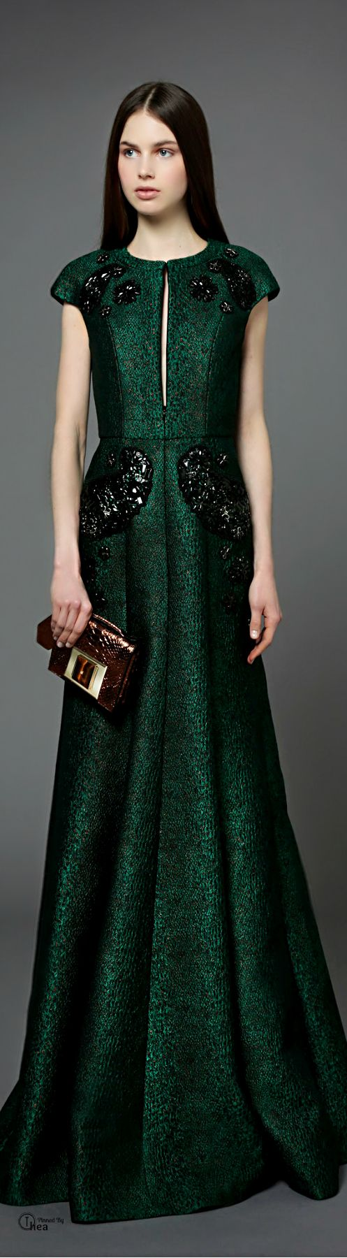Andrew Gn ● Pre-Fall 2014   Such a beautifully rich green! fit to dress a queen.