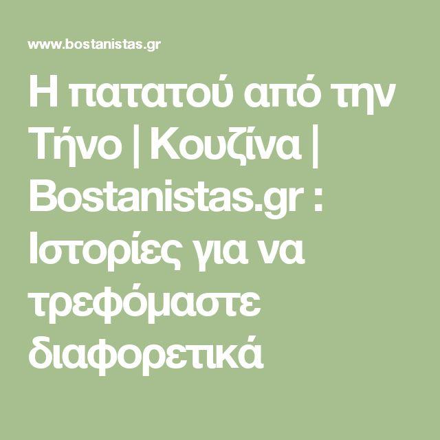 Η πατατού από την Τήνο | Κουζίνα | Bostanistas.gr : Ιστορίες για να τρεφόμαστε διαφορετικά