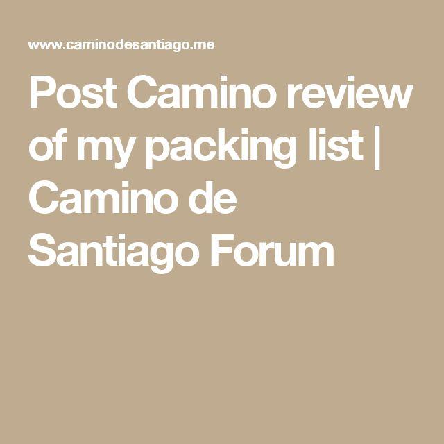 Post Camino review of my packing list | Camino de Santiago Forum