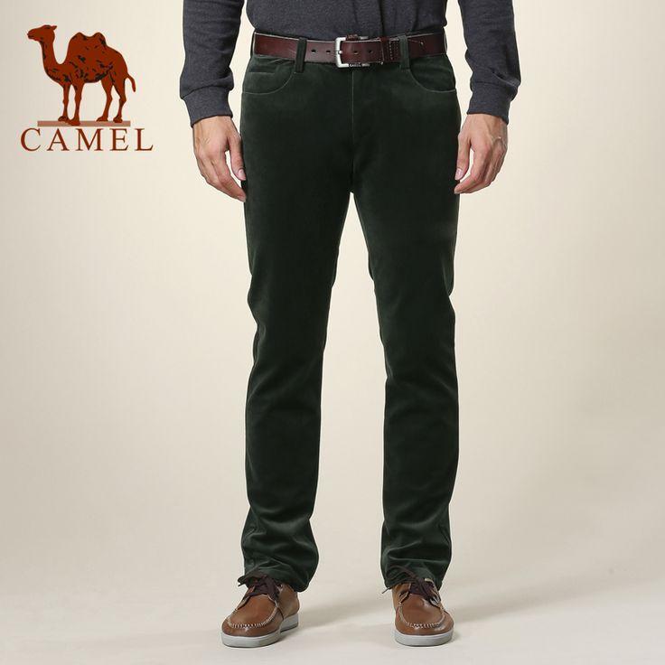 Camel мужская одежда 2013 зима мужской деловой случай брюки середины талии прямые вельветовые брюки 126014