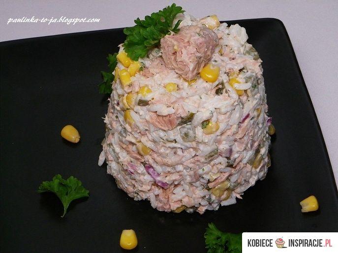 Sałatka ryżowa z tuńczykiem - Kobieceinspiracje.pl