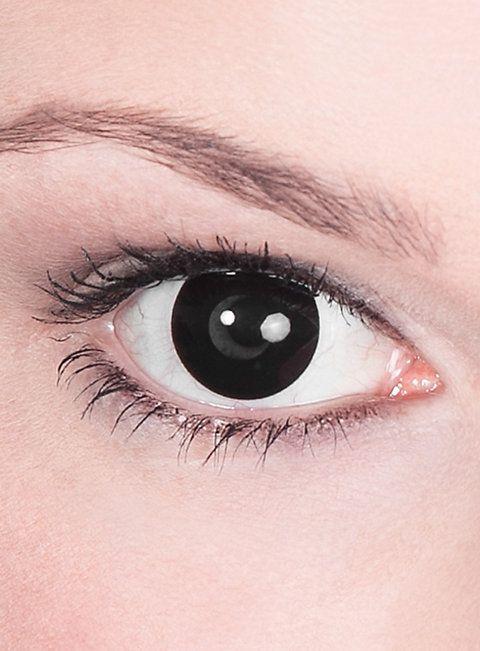 Schwarze Kontaktlinsen Hexe   #contactlenses #black #halloween #sfx