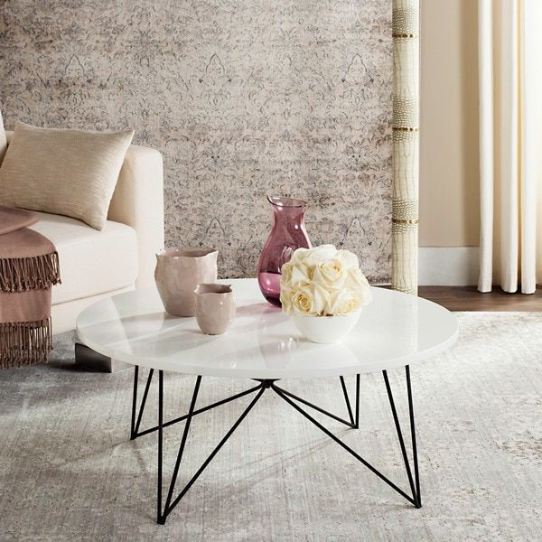 Modern Luxury At Its Finest This Contemporary Coffee Table Brings A Touch Of Design Decadence To Any Interior Crafted With Dramatic White Lacquer Finish