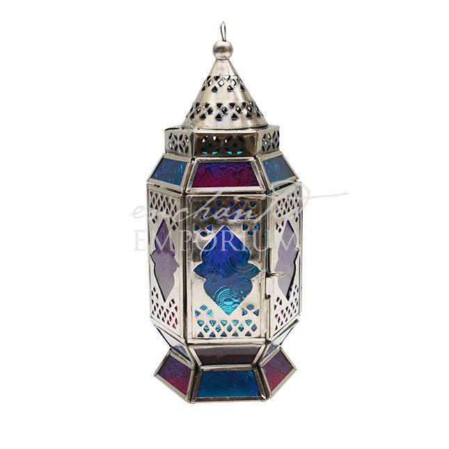Moroccan-lantern--Standing-Silver-Pink-Turq-010