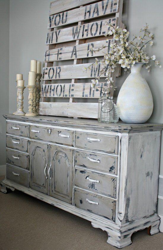 meubles peint vintage