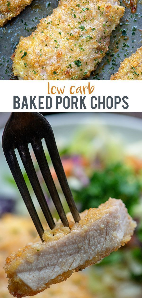 Breaded Pork Chops – low carb and so easy! Family friendly too! #lowcarb #keto #…