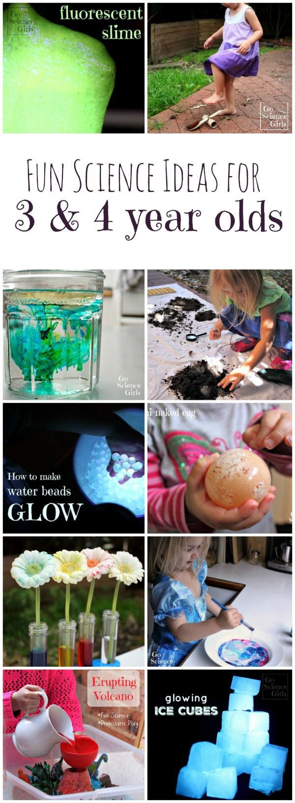 Want to start science with your preschoolers but not sure how? Here is a roundup of fun science activities for your 3  and 4 year olds!