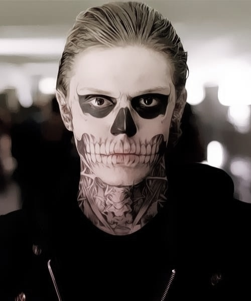 omg. evan peters was epic in american horror story. how can he not be beautiful? even with all that jazz going on on his face.
