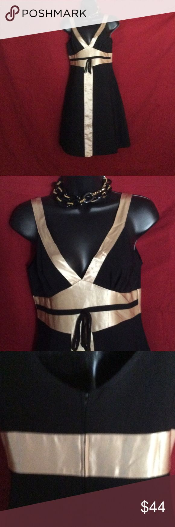Selling this RUBY-ROX BLACK & GOLD DRESS W/TAGS NECKLACE EXTRA on Poshmark! My username is: stonetwisted. #shopmycloset #poshmark #fashion #shopping #style #forsale #Ruby Rox #Dresses & Skirts