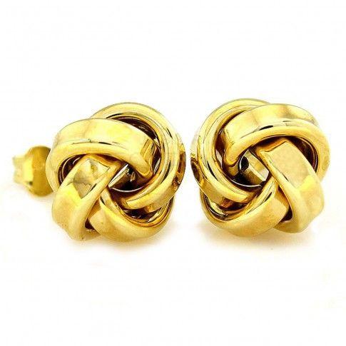 Złote kolczyki - Supełki