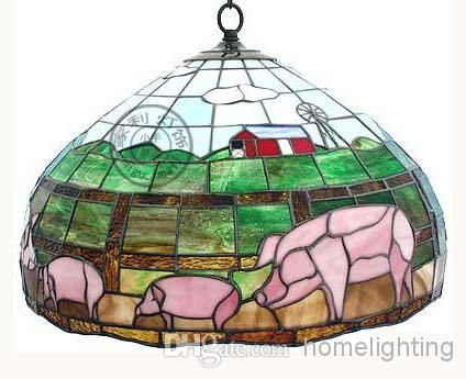 Cheap Chandelier - Best Style Stained Glass Pig Hanging Lamp Light Ceiling Fixture Chandelier Online with $250.27/Piece on Homelighting's Store | DHgate.com