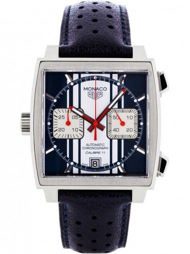 Tag Heuer Monaco Blue Chronograph Watch CAW211D-FC6300