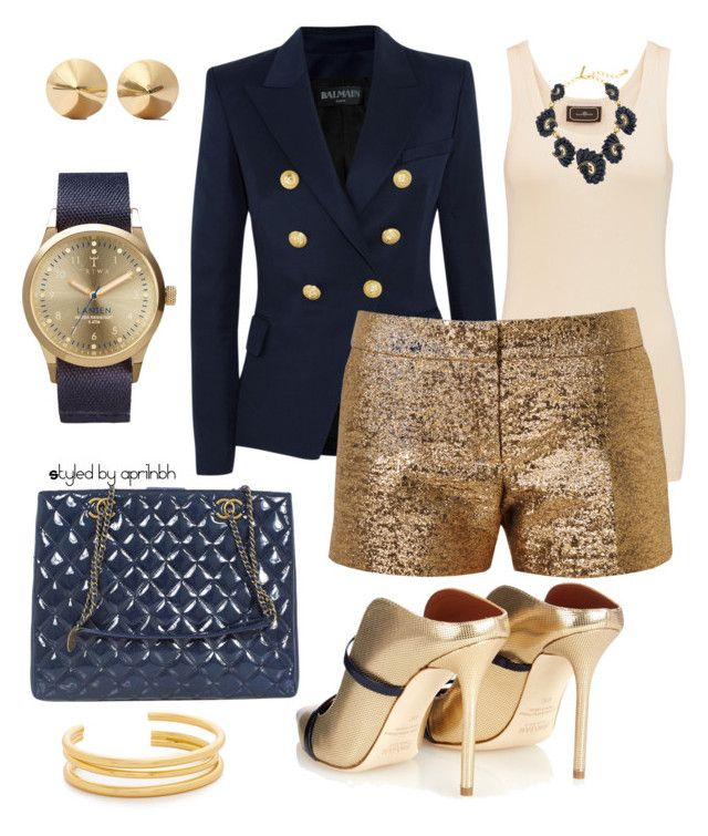 """""""Outfit 51"""" by aprilhayes123 on Polyvore featuring By Malene Birger, Balmain, Lanvin, Oscar de la Renta, Malone Souliers, Triwa, Eddie Borgo and Madewell"""