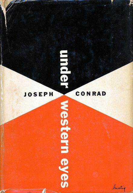 An Alvin Lustig dust jacket design.    Under Western Eyes by Joseph Conrad.  New Directions, 1951.