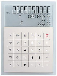 Lexon's D.I. Maths calculator designed by Patrick Jouin.