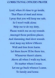 Correctional Officers Prayer